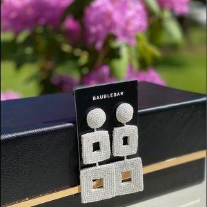 Baublebar White Beaded Square Earrings